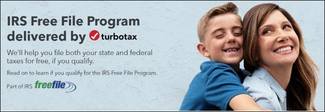 The TurboTax IRS Free File banner.