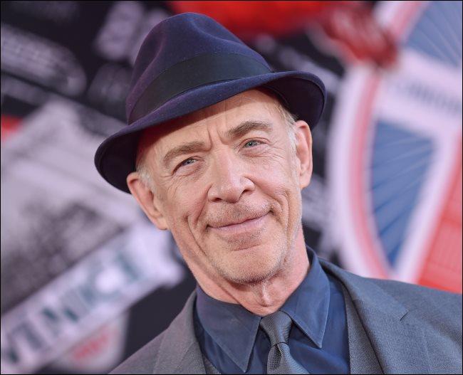 A portrait photo of actor JK Simmons