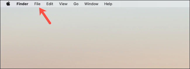 Go to the file menu of the Finder