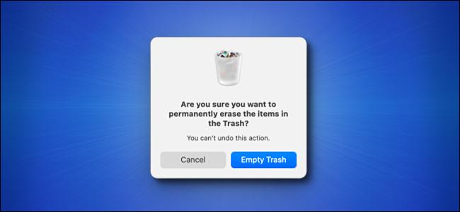Mac Big Sur Empty Trash Warning Window