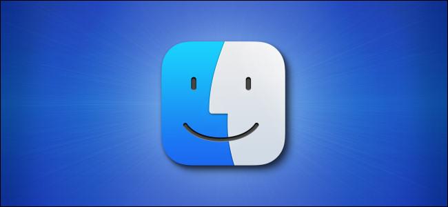 Значок Apple Mac Finder Big Sur на синем фоне