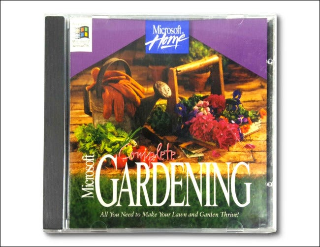 Microsoft Complete Gardening CD jewel box.