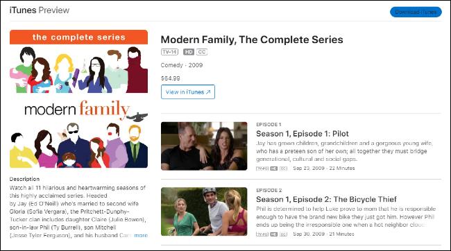Modern Family on iTunes