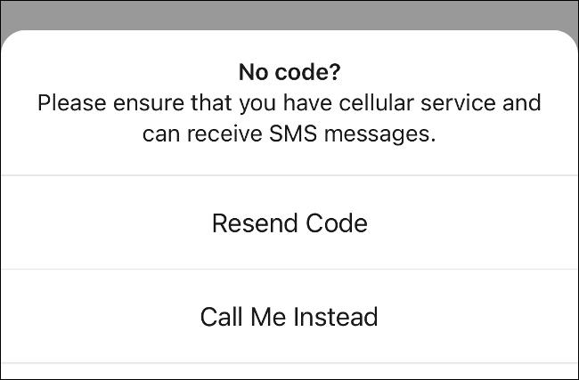 Request Signal code via phone