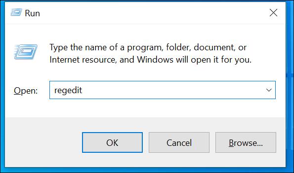 Open the Windows Registry Editor