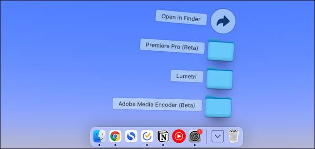 Add folders to Mac dock