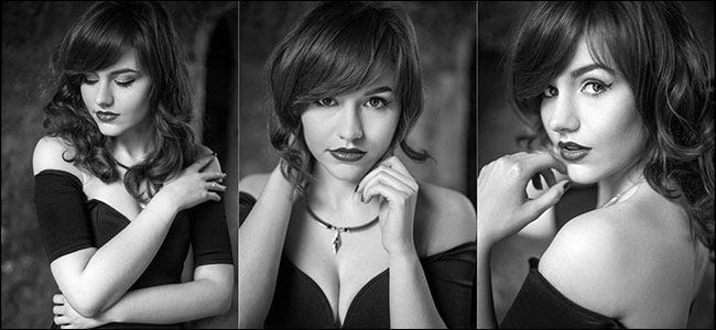 sample image with three portraits