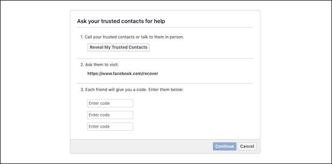 Odzyskaj konto na Facebooku z zaufanymi kontaktami