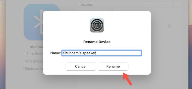Rename Bluetooth device on Mac