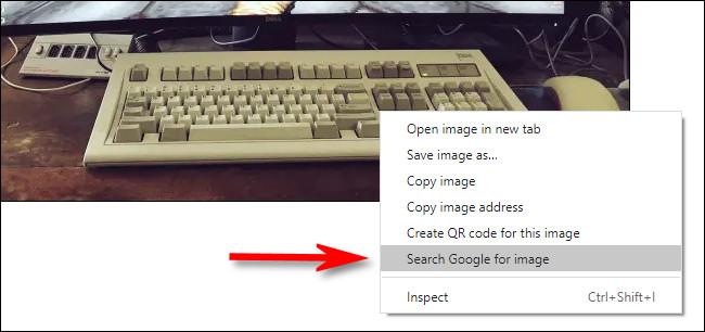 """В Google Chrome щелкните изображение правой кнопкой мыши и выберите """"Искать в Google изображение"""" для быстрого поиска изображений в обратном направлении."""