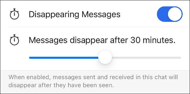 Enable Disappearing Messages in Signal