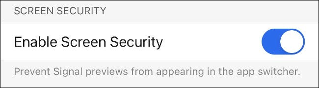 Enable Screen Security in Signal