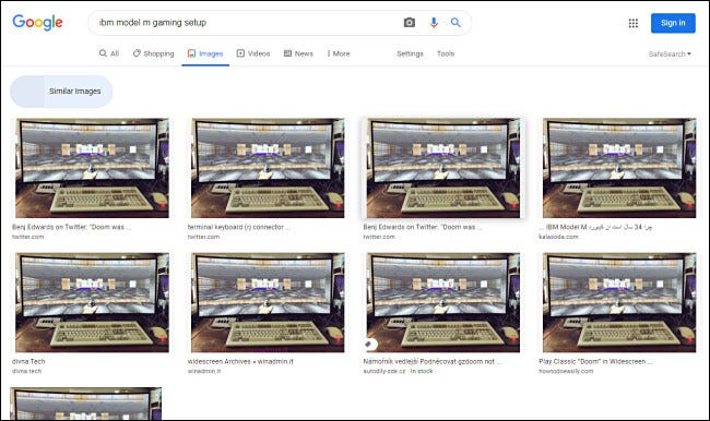 Looking at similar images of all sizes on Google Image search results.