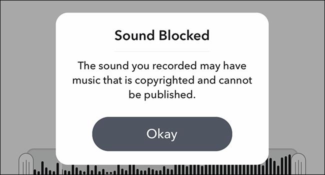 snapchat sound blocked