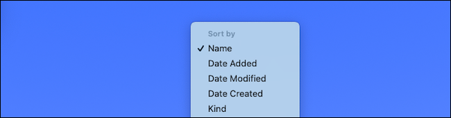 Change the sort setting for the folder in the Mac dock