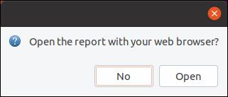Откройте отчет в диалоговом окне веб-браузера.