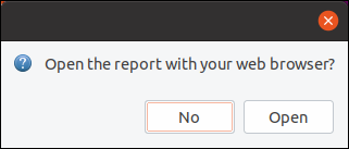 Open the report with your web browser dialog