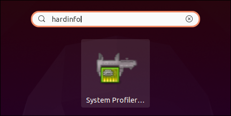 hardinfo icon on the desktop