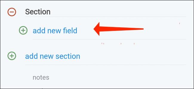 """Tap """"Add new field"""""""