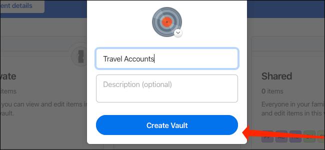 Click Create Vault