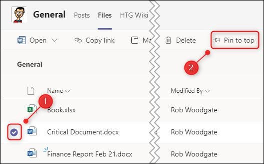"""A selected document and the """"Pin to top"""" option."""