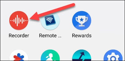 open the recorder app on your Google Pixel