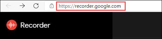 google recorder website
