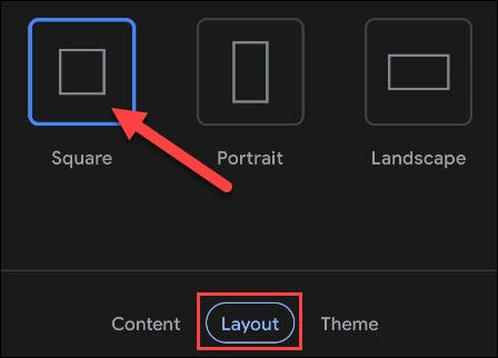 choose the layout tab and pick a size