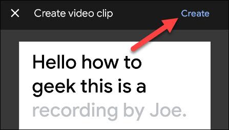 "Tap the ""Create"" button in the top-right corner"