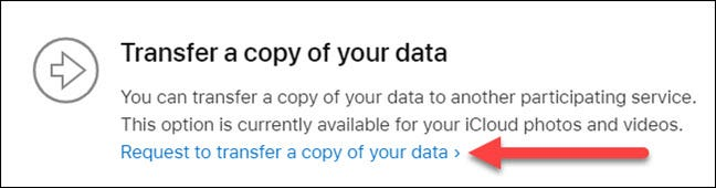 transfer a copy of your data