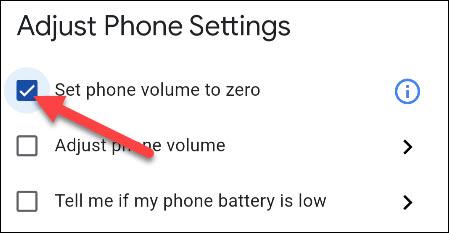 set phone volume to zero