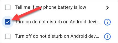 select do not disturb mode