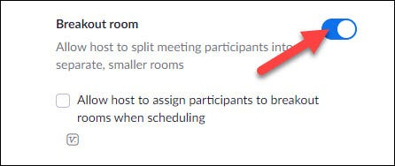 toggle on breakout room