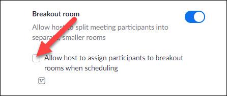 schedule breakout rooms