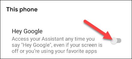turn off hey google