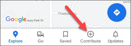 google maps contribute tab