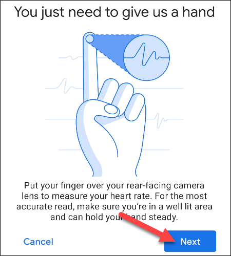 tap next to use finger