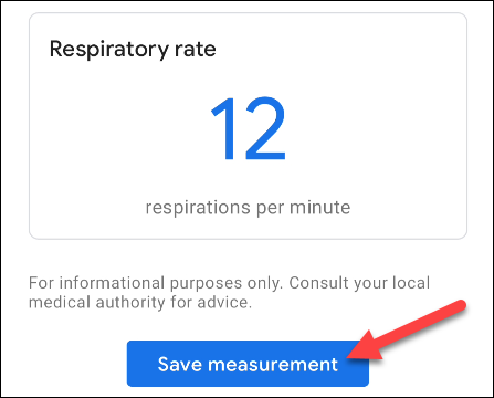 save measurement
