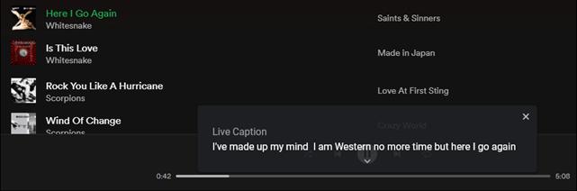 élő átírás a spotify-on