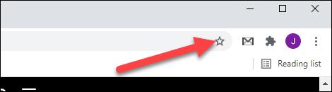 click the bookmark icon