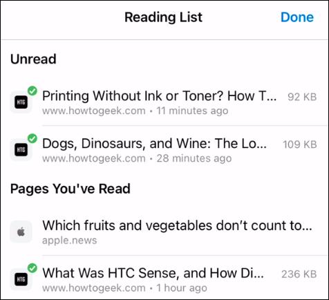 Reading List layout