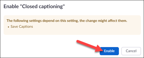 enable save captions