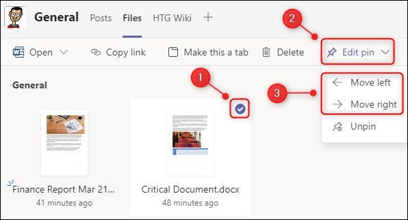 """A selected document and the """"Move left"""" and """"Move right"""" menu options."""