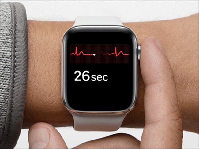 image of Apple Watch ECG in use