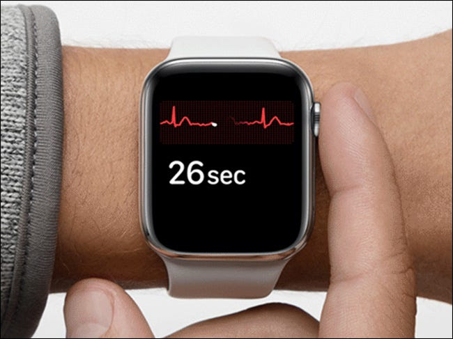 image showing apple watch ECG in use