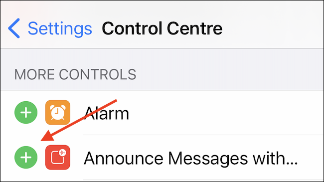 Add Announce Messages to Control Center