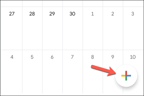 To add a new event to the Google Calendar mobile app, tap the