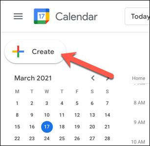 On the Google Calendar website, press the