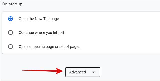 Advanced Settings in Chrome