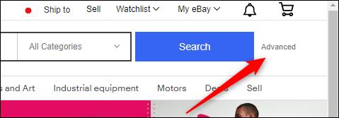 Botão avançado próximo ao botão de pesquisa
